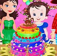 Baby Lisi Ice Cream Cake
