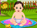 Garden Baby Bathing (93853 times)
