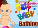 Cute Baby Bathing