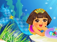 Dora Mermaid Pearl Collecting