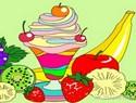 Ice-Cream Sundae Coloring Game
